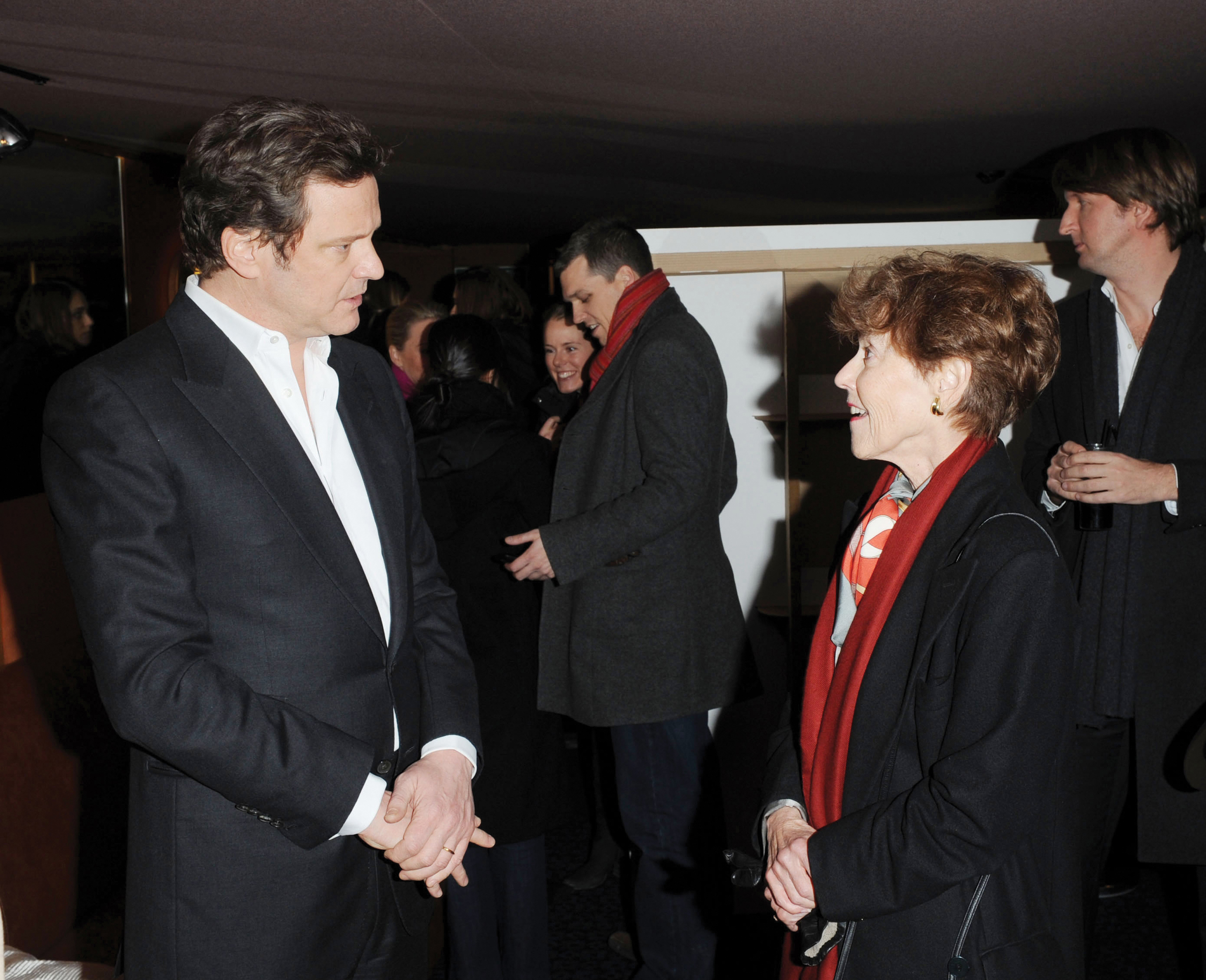 Media resources stuttering foundation a nonprofit organization download picture of stuttering foundation president jane fraser with actor colin firth at a fund raising event in london geenschuldenfo Images