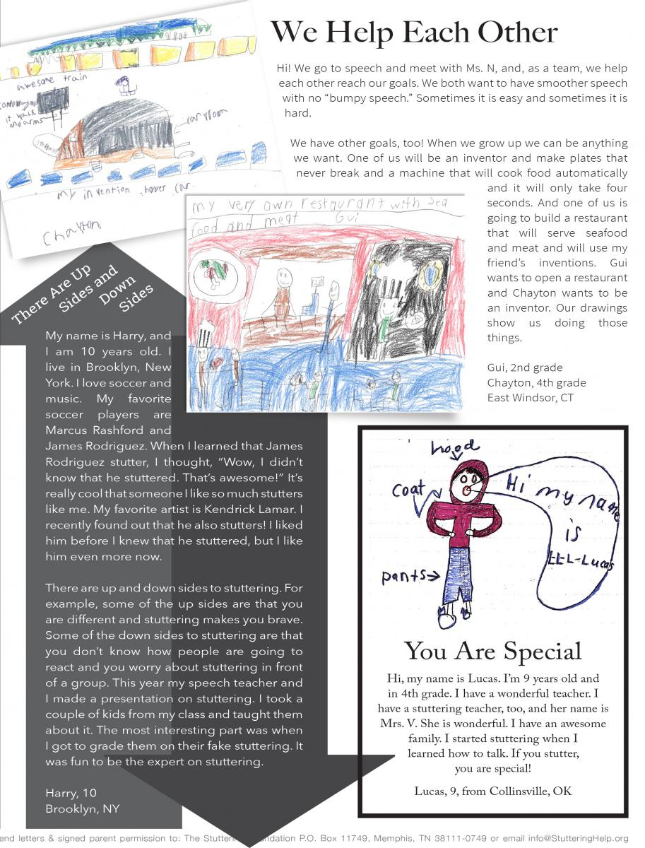 Drawings and letters from kids stuttering foundation a drawingswinter20178g aljukfo Choice Image