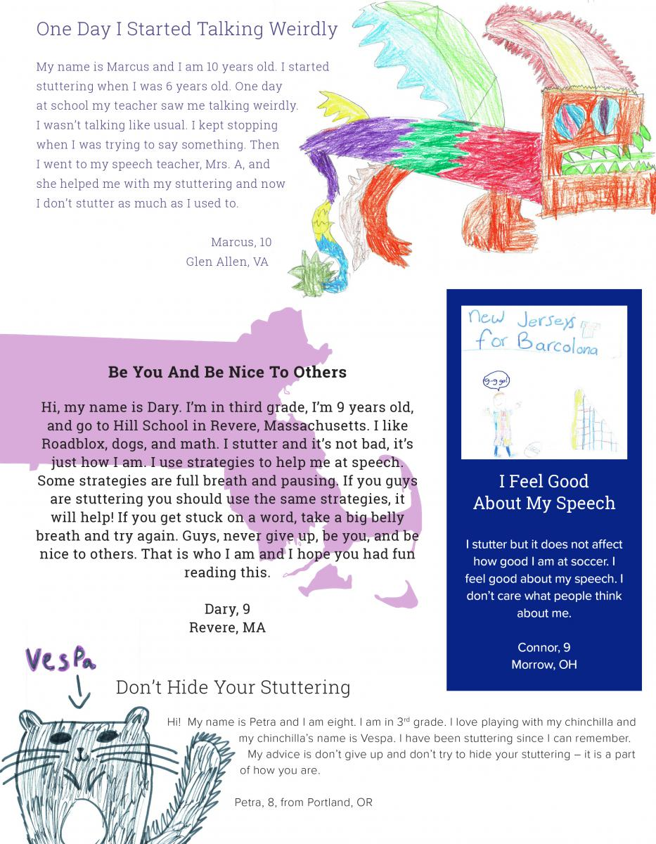 Drawings and Letters From Kids | Stuttering Foundation: A