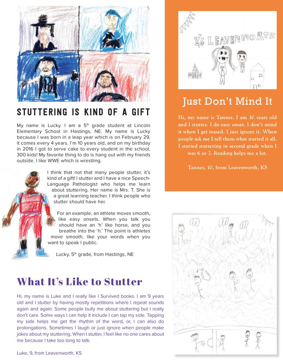 Drawings And Letters From Kids Stuttering Foundation A Nonprofit