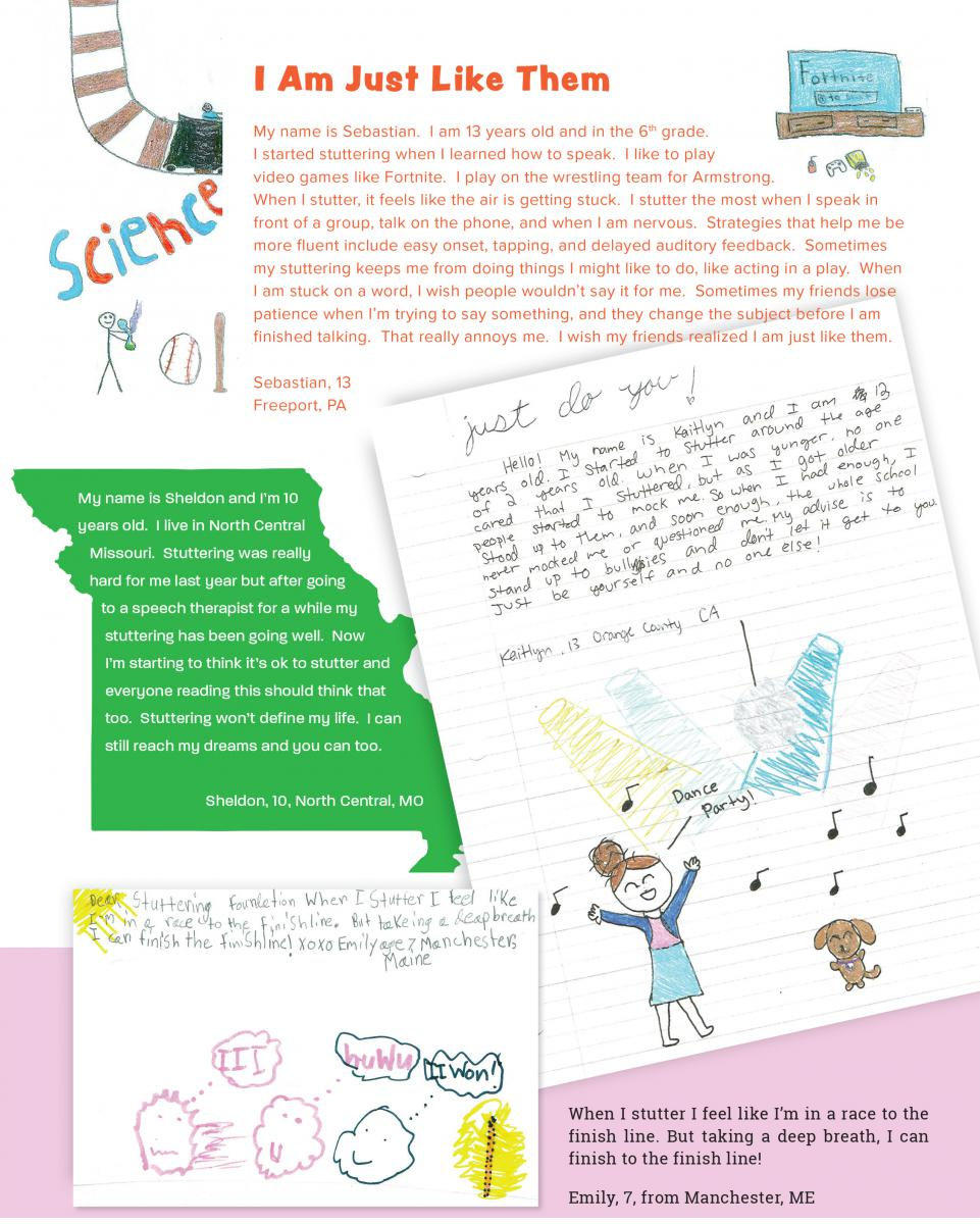 Drawings and Letters From Kids | Stuttering Foundation: A Nonprofit