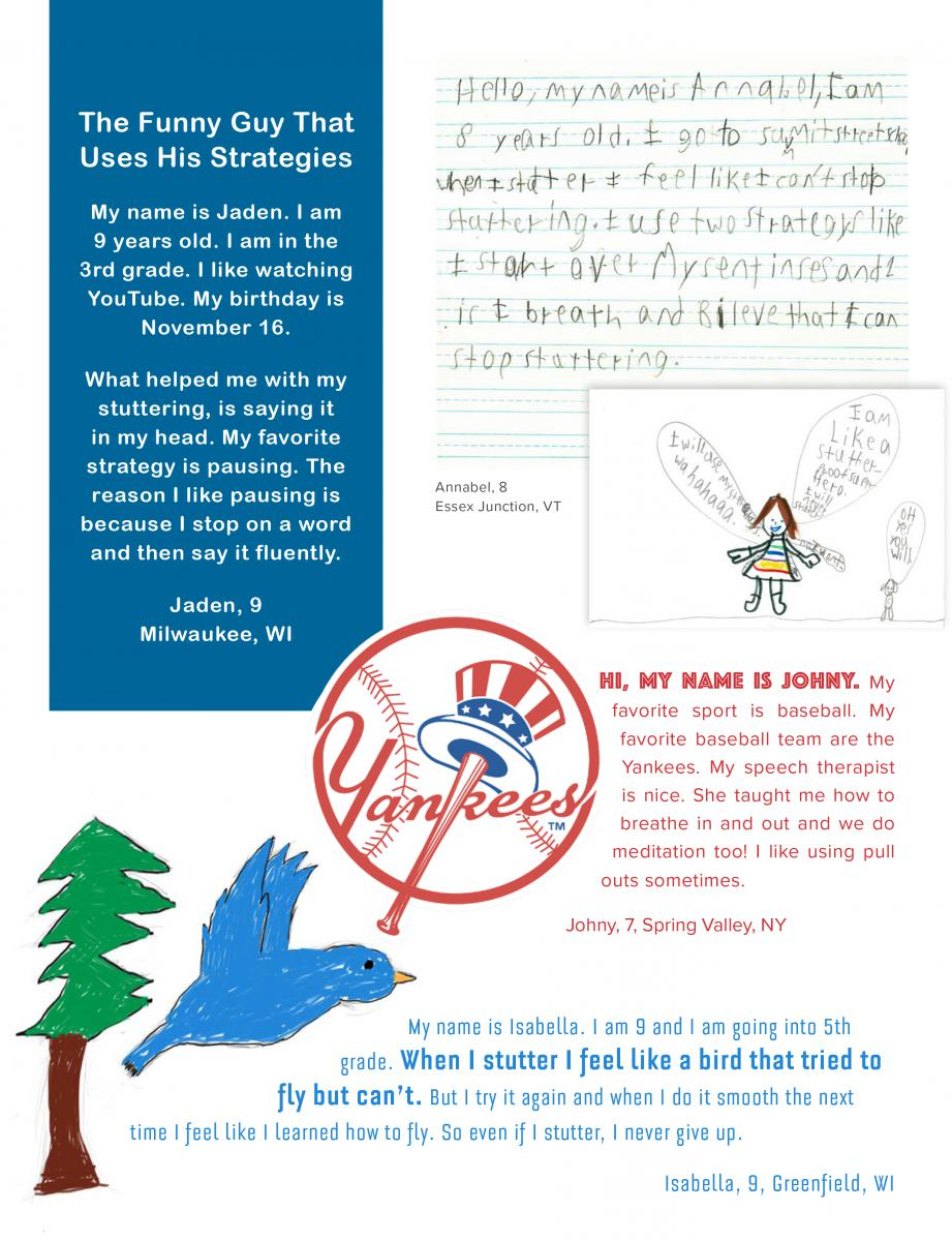 7 Years Piano Sheet Music With Letters drawings and letters from kids   stuttering foundation: a